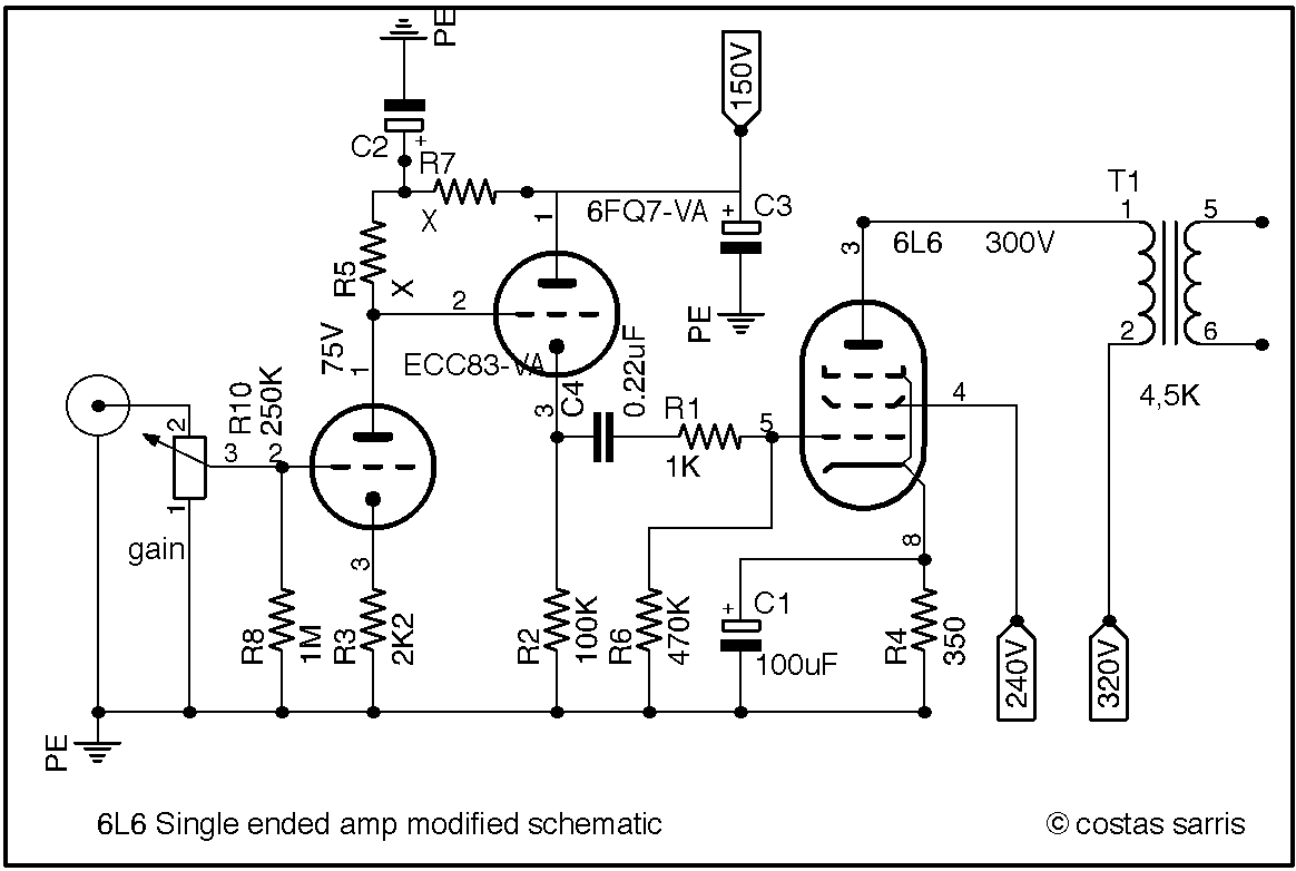 6l6 amplifier schematic related keywords