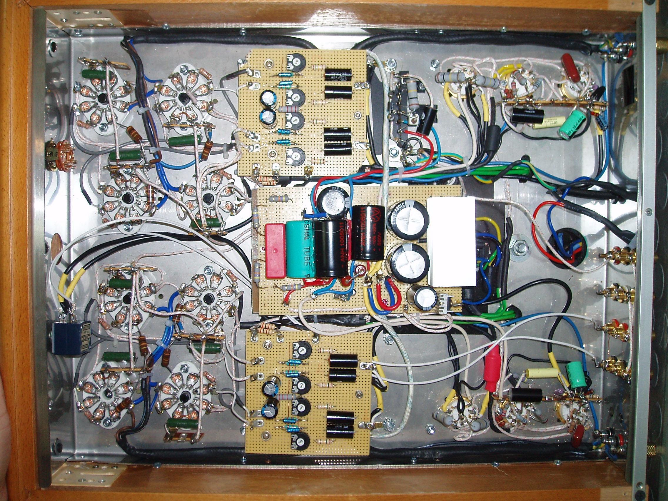 underneath EL34 audio power amp