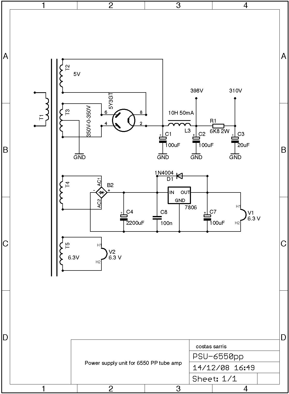 power supply 6550 amp schematic