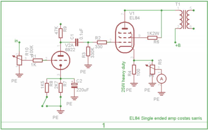 EL84SE schematic 1?itok=y45EG6tm tube amp schematics sarris custom tube amps tube amp wiring diagram at bakdesigns.co