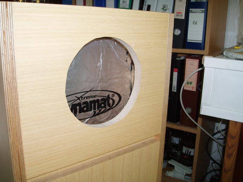 fostex back loaded horn speakers enclosure detail front