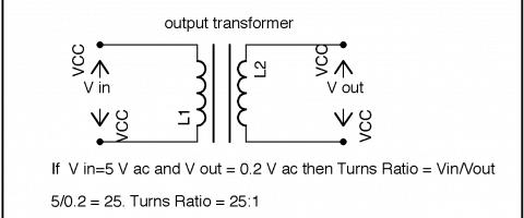 output transformer impedance calculation